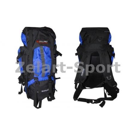 Рюкзак туристический V-65+10л каркасный (жесткий) GA-3711-BL ZEL (PL, NY, алюминий, синий)