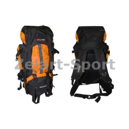 Рюкзак туристический V-65+10л каркасный (жесткий) GA-3711-OR ZEL (PL, NY, алюминий, оранжевый)