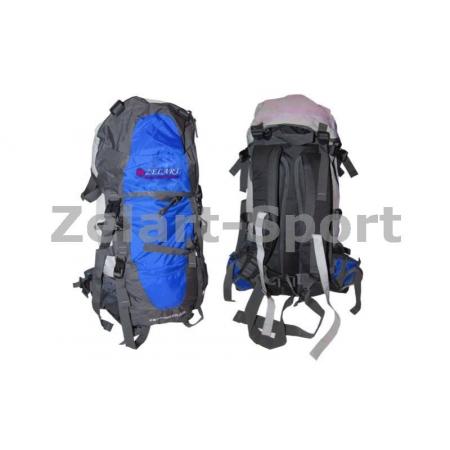 Рюкзак туристический V-85л каркасный (жесткий) GA-3713-B ZEL (PL,NY, алюм., синий)