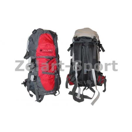 Рюкзак туристический V-85л каркасный (жесткий) GA-3713-R ZEL (PL,NY, алюм., красный)