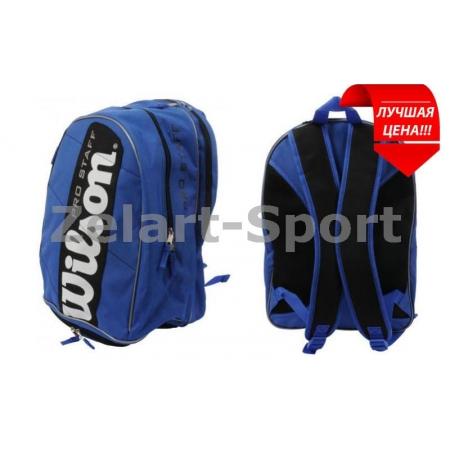 Рюкзак WILSON WRZ822296 PRO STAFF (PL, на 3 ракетки, р-р 46х32х27см, синий)
