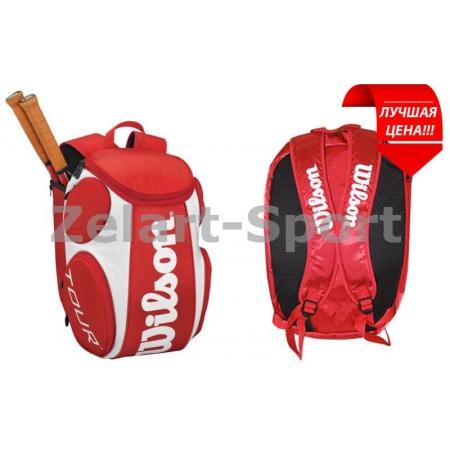 Рюкзак WILSON WRZ844296 TOUR LG (PL, р-р 50х33х26см, белый-красный)