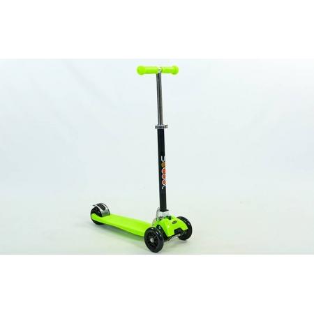 Самокат с наклоном руля Trolo Maxi Plus складной C-4577-G зеленый (3-х кол,PU, h-58-83см,плат.36х13см)