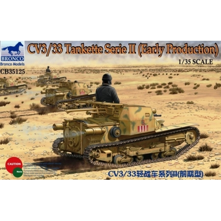 Сборная модель CV3/33 Tankette Serie II (Early Production), арт. CB35125