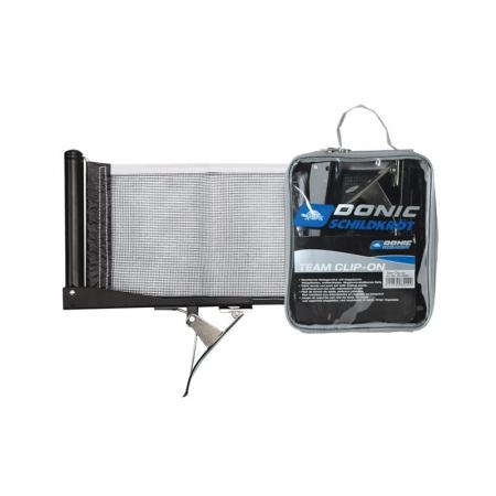 Сетка для настольного тенниса с клипсовым креплением DONIC MT-808302 (металл, NY, PVC чехол)