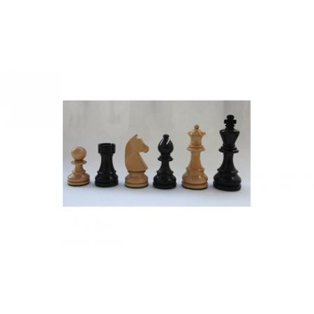 Шахматные фигуры деревянные (черные) Стаунтон №6, Индия