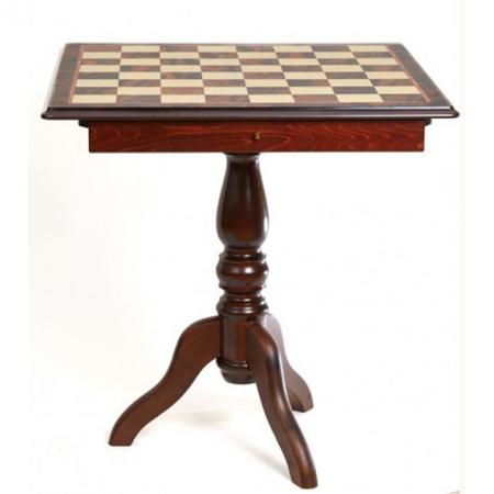 Шахматный стол Nigri Scacchi с местом для укладки шахмат, дерево | T13