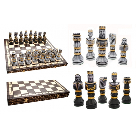 Шахматы GLADIATOR, 59 см, черные, Madon 311701