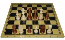 Шахматы Клуб, 45 x 45 см (доска МДФ, фигуры дерево)