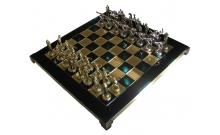 "Шахматы Manopoulos ""Геркулес и полубоги Олимпа"", зеленые 36х36см (S7GREEN)"