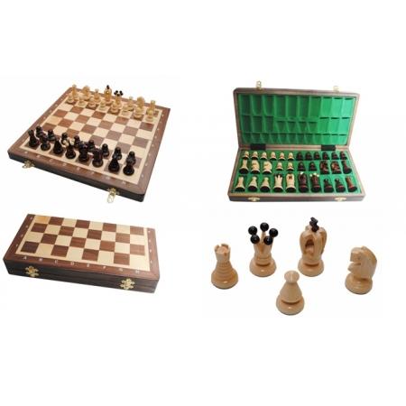 Шахматы Medium Kings Intarsia, 35 см, махагон, Madon 311204