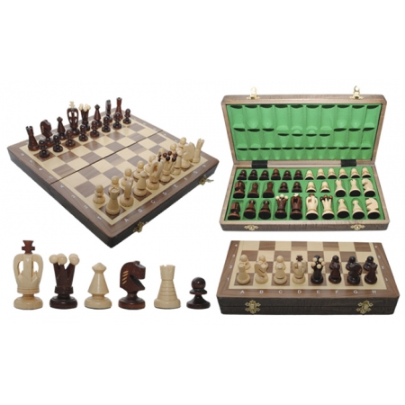 Шахматы Medium Kings Intarsia, 35 см, орех, Madon 311215