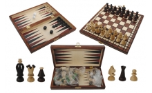Шахматы + нарды Королевские малые, 28 см, Gniadek 1068