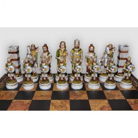 Шахматы Nigri Scacchi Бой римлян с варварами, 60 x 60 см (полистоун, дерево) | SP14.15+DA75G