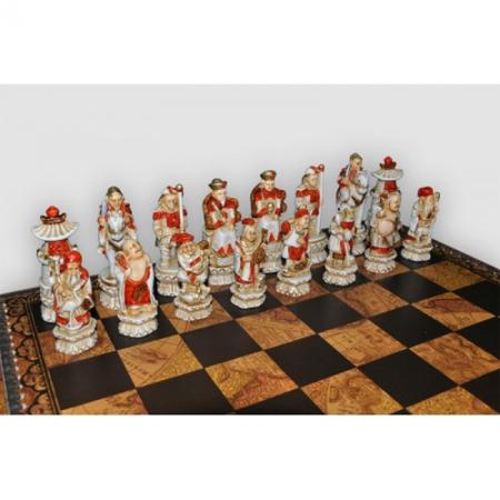 Шахматы Nigri Scacchi Империя Мин, 48 x 48 см (полистоун, кожа)   SP3+CD48