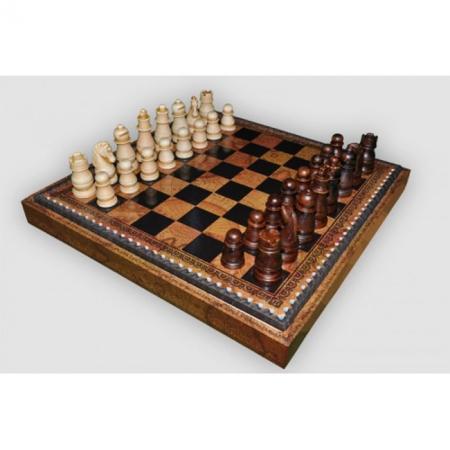 Шахматы Nigri Scacchi Классика, 35 x 35 см (полистоун, кожа) | S21+CD35