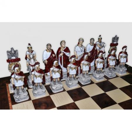 Шахматы Nigri Scacchi Римляне и египтяне, 60 x 60 см (полистоун, дерево) | SP72+DA75G