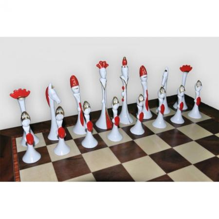 Шахматы Nigri Scacchi Стиль Модильяни, 60 x 60 см (полистоун, дерево) | SP125+DA75G