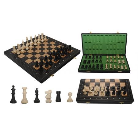 Шахматы OLIMPIС Intarsia, 51 см, вяз + эбеновое дерево, Gniadek 11206