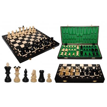 Шахматы ROYAL-54, 54 см, черные, Wegiel 2006