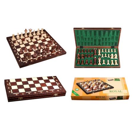 Шахматы ROYAL-54, 54 см, коричневые, Wegiel 2004