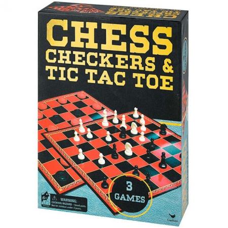 Шахматы, шашки и крестики-нолики, набор из трех игр, Spin Master Games, SM98377/6033146