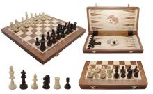 Шахматы Турнирные №4 + Нарды Intarsia, 40 см, махагон, Madon 317904