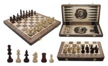 Шахматы Турнирные №4 + Нарды Intarsia, 40 см, орех, Madon 317915