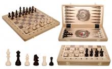 Шахматы Турнирные №4 + Нарды Intarsia, 40 см, светлыйдуб, Madon 317905