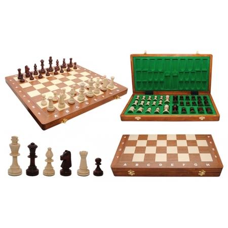 Шахматы Турнирные №5 Intarsia, 48 см, коричневые, Madon 3055
