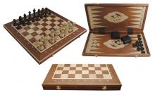 Шахматы Турнирные №5 + Нарды Intarsia, 52 см, махагон, Madon 317004