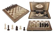 Шахматы Турнирные №5 + Нарды Intarsia, 52 см, орех, Madon 317015