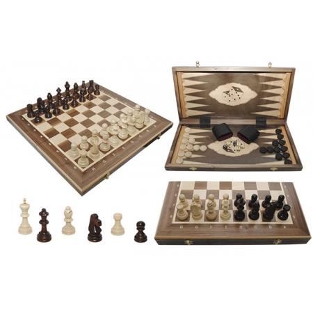 Шахматы Турнирные №5 + Нарды Intarsia, 52 см, орех, Madon 317015 Madon