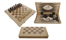 Шахматы Турнирные №5 + Нарды Intarsia, 52 см, светлыйдуб, Madon 317605