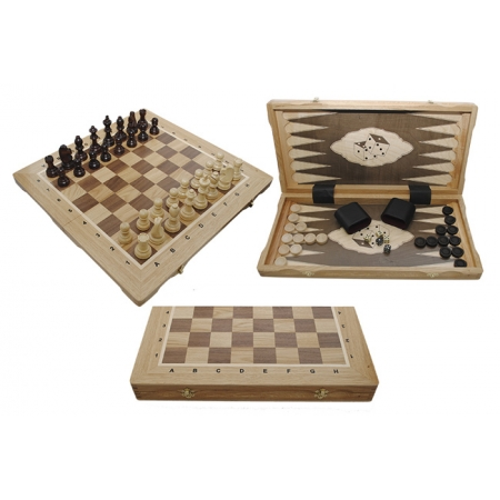 Шахматы Турнирные №5 + Нарды Intarsia, 52 см, светлыйдуб, Madon 317605 Madon
