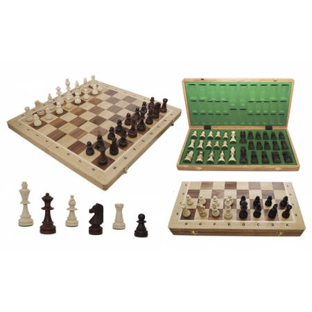 Шахматы Турнирные №6 Intarsia, 52 см, светлыйдуб, Madon 309905