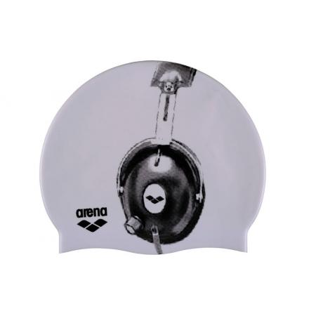 Шапочка для плавания ARENA AR-91830-33 POOLISH (силикон, белый)