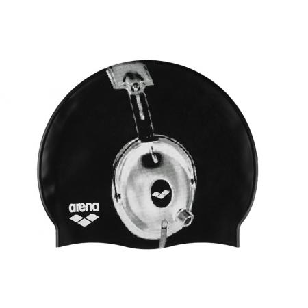Шапочка для плавания ARENA AR-91830-35 POOLISH (силикон, черный)
