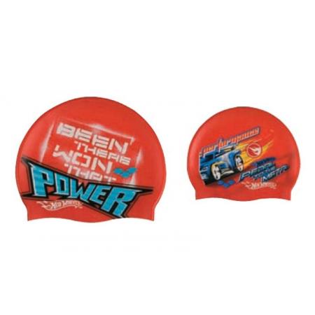 Шапочка для плавания детская ARENA AR-91466-40 HOT WHEELS POWER MACHINE (силикон, красный)