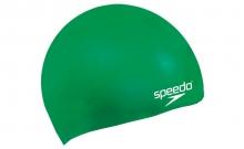 Шапочка для плавания детская SPEEDO 8709900005 PLAIN MOULDED SILICONE CAP JR (силикон, зеленый)