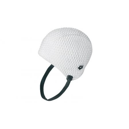 Шапочка для плавания на длинные волосы ретро ARENA AR-91010-11 GAUFFRE CHIN (силикон, белый)