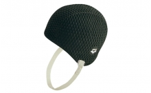 Шапочка для плавания на длинные волосы ретро ARENA AR-91010-50 GAUFFRE BUBBLE (силикон, черный)