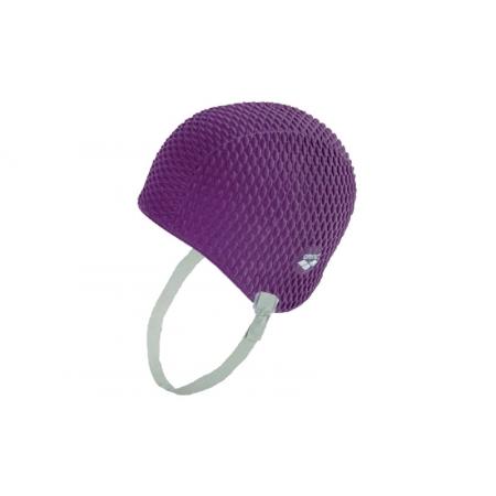 Шапочка для плавания на длинные волосы ретро ARENA AR-91010-81 GAUFFRE UNISEX (силикон, сиреневый)