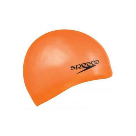 Шапочка для плавания SPEEDO 8709841911 PLAIN MOULDED SILICONE CAP (силикон, оранжевый)