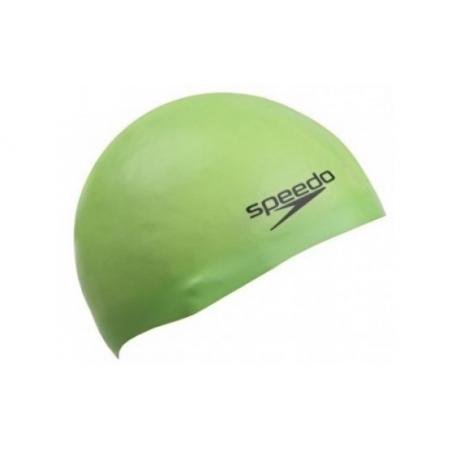 Шапочка для плавания SPEEDO 8709847133 PLAIN MOULDED SILICONE CAP (силикон, зеленый)