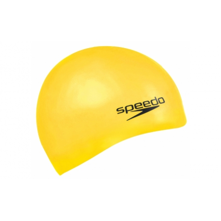 Шапочка для плавания SPEEDO 8709848922 PLAIN MOULDED SILICONE CAP (силикон, желтый)