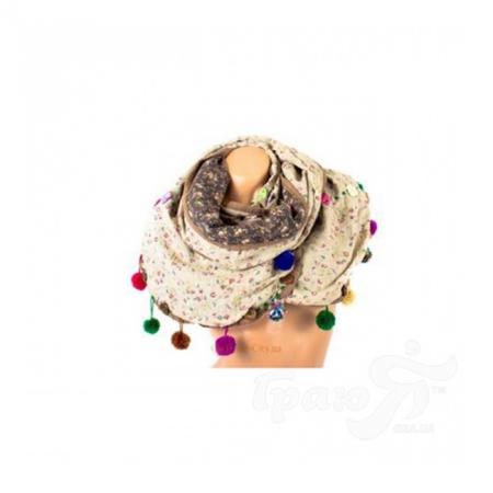 Шарф женский двусторонний 170*42 см ETERNO (ЭТЕРНО) W0048-beige
