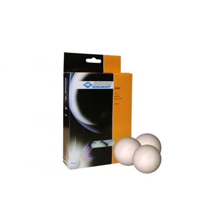 Шарики для настольного тенниса (12шт) DONIC MT-618046 JADE (пластик, d-40мм, белые)