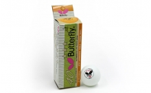 Шарики для настольного тенниса (3шт) Дубл. Butterfly 40 MT-2027 3star белые(стар.уп.)95210-051-0-000