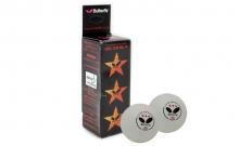 Шарики для настольного тенниса (3шт) Дубл. Butterfly MT-1855 516003-G03010302-1 (пластик, d-40мм, белые)